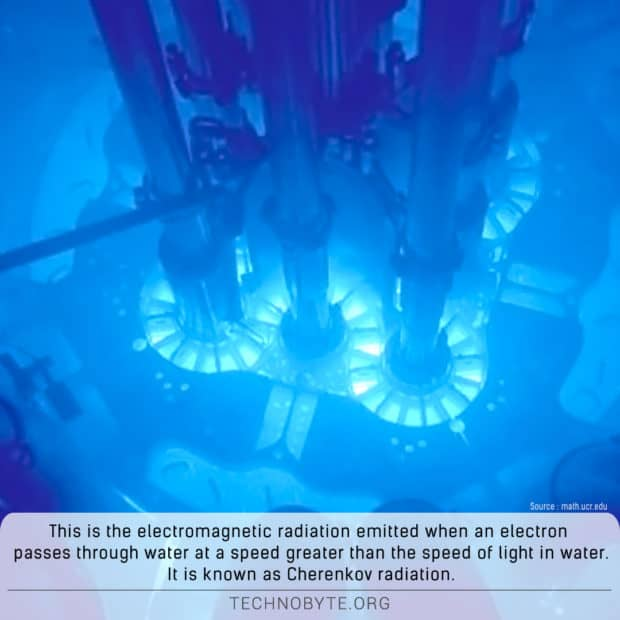 cherenkov-radiation interesting fact about nuclear reaction