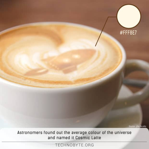 color of the universe fun fact