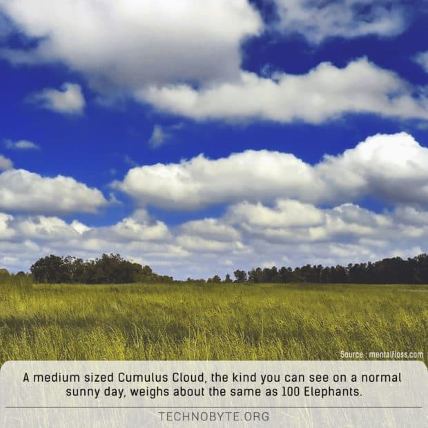 clouds weight