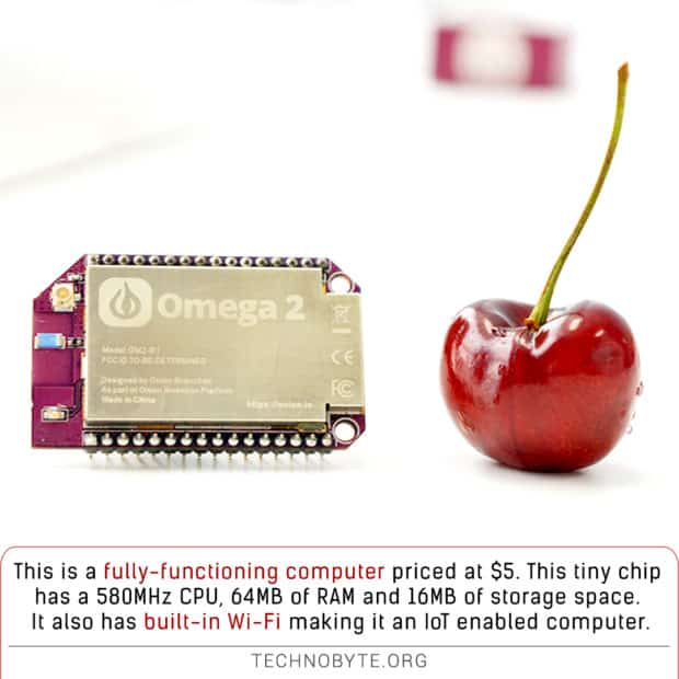 amazing technology fact Onion Omega 2 is a Small and cheap IoT enabled computer