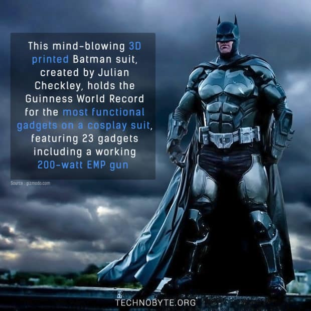 impressive fun fact 3d printed batman suit with 23 gadgets