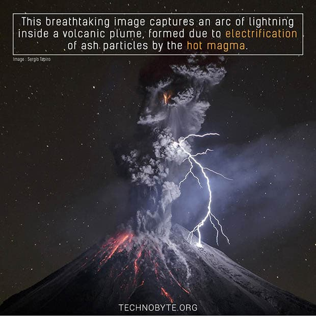 amazing facts Volcano Lightning is breathtaking display of volcanic ash and lightning