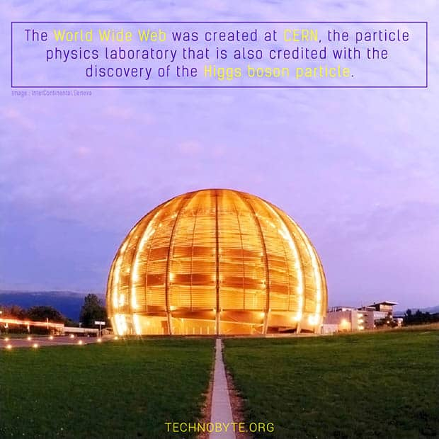 interesting fact about the internet - World Wide Web was invented at CERN fact